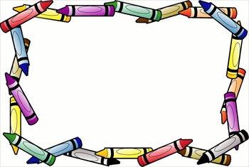 Borders Clip Art u0026middot; Crayon Clip Art u0026middot; imagination clipart