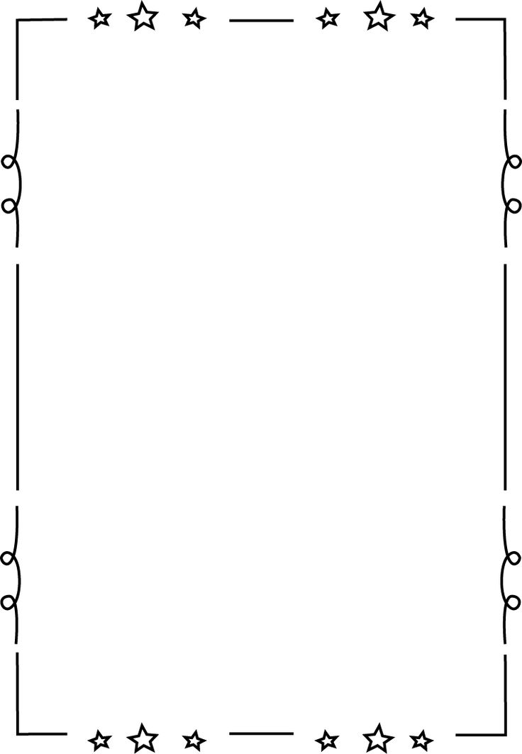 Borders and frames on page bo - Black And White Border Clip Art
