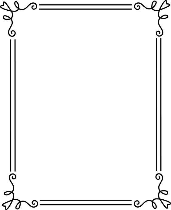 borders and frames | Simple Elegant Black Frame 2 - Free Clip Art: