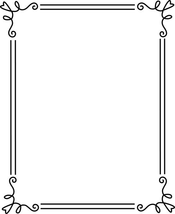 borders and frames | Simple Elegant Black Frame 2 - Free Clip Art: