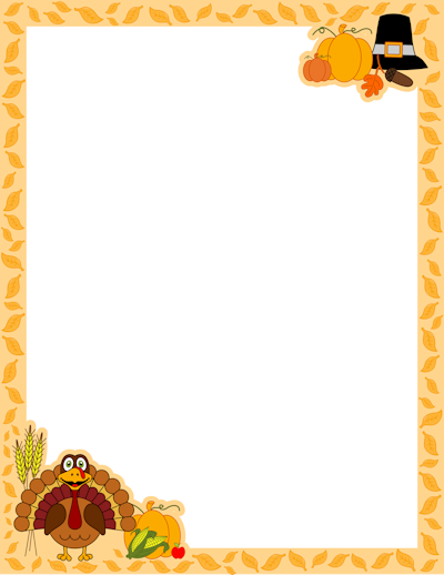 Borders For Halloween And Thanksgiving A-Borders For Halloween And Thanksgiving And More-1