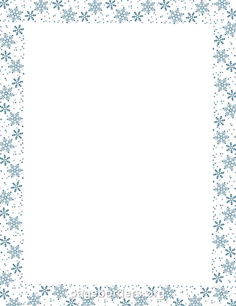 Bordes En Pinterest Bordes De - Snowflake Clipart Border