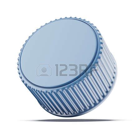 bottle cap: Plastic bottle cap isolated on a white background Stock Photo