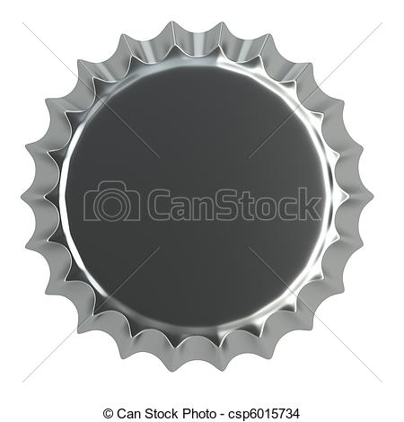 bottle caps in colors collection Clip Artby robertasch1/84; metallic bottle cap 3d illustration isolated on white