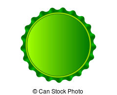 Bottlecap - Illustration of the bottlecap isolated over.