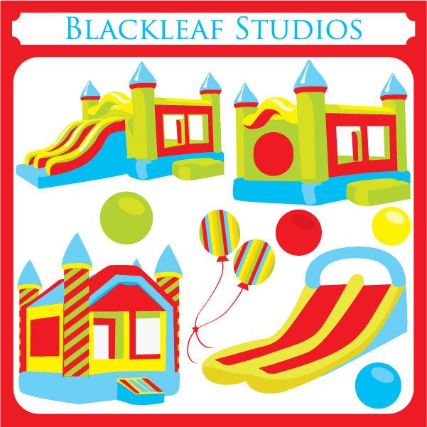 Bounce House ORIGINAL digital - bouncing castle, inflatable, inflatable bounce, jump house - Personal and Commercial Use Clip Art
