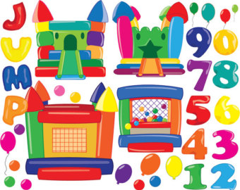 Bouncy house Digital Clipart Instant Download Graphics- Personal/ Commercial Use