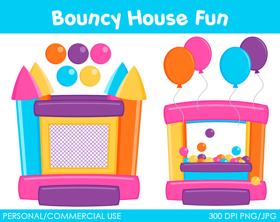Bouncy House Fun Clipart Digital Clip Art Graphics For Personal Or