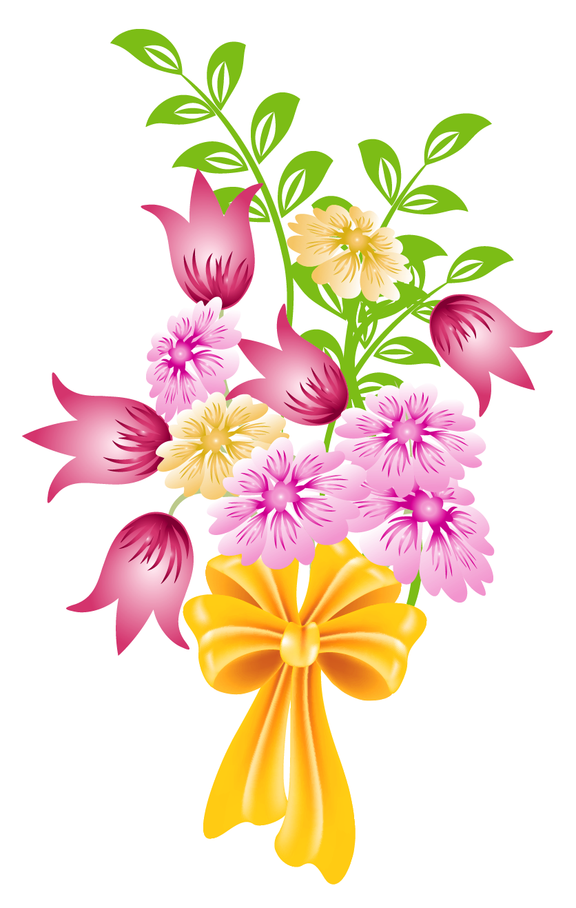 Bouquet of flowers clipart no .