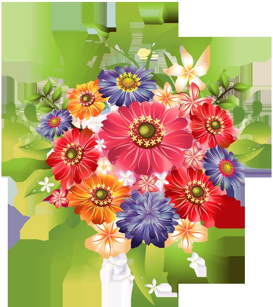 Bouquet Of Summer Flowers Clip Art-Bouquet Of Summer Flowers Clip Art-1