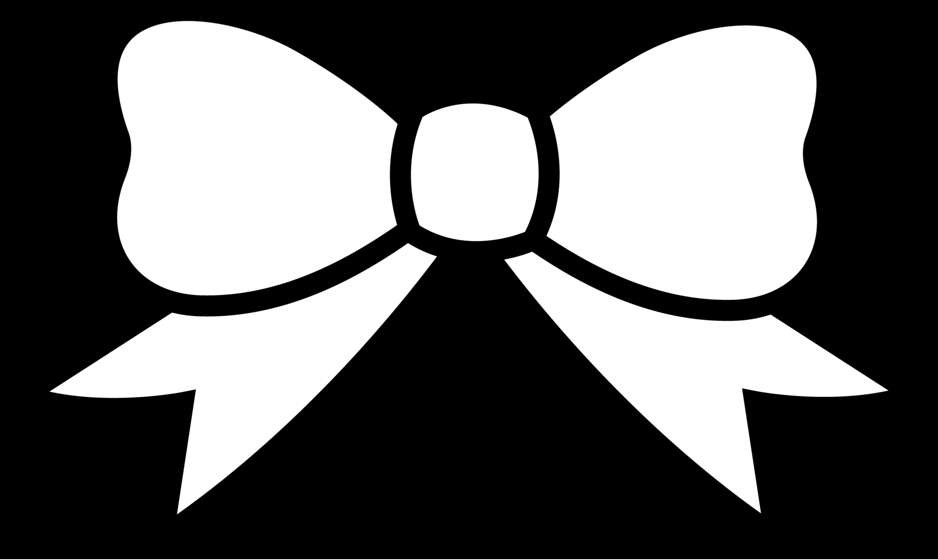 bow clipart black and white-bow clipart black and white-9
