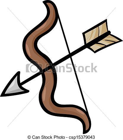 ... bow and arrow clip art cartoon illus-... bow and arrow clip art cartoon illustration - Cartoon... ...-16