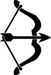 Bow and arrow Free vector in .