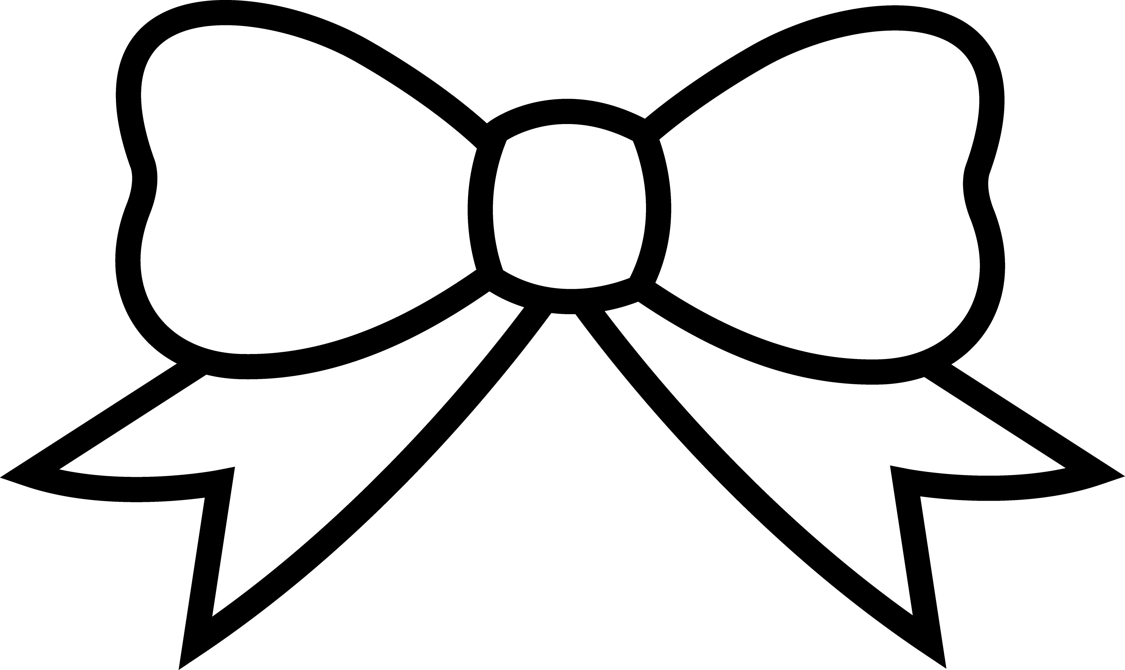 Bow Clipart Black And White - - Bow Clipart Free