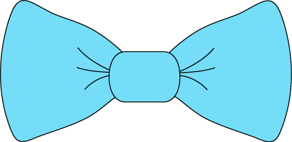 Bow Clipart Light Blue Bow Tie Png