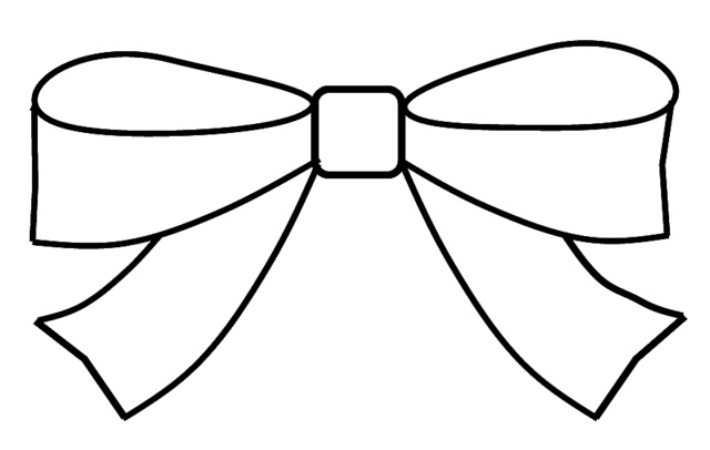 Bow Clipart Outline To Colour 15cm Wide-Bow Clipart Outline To Colour 15cm Wide-7