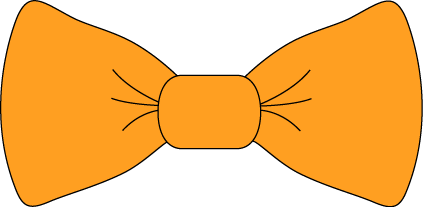 bow tie clipart on Etsy. Orange Bow Tie