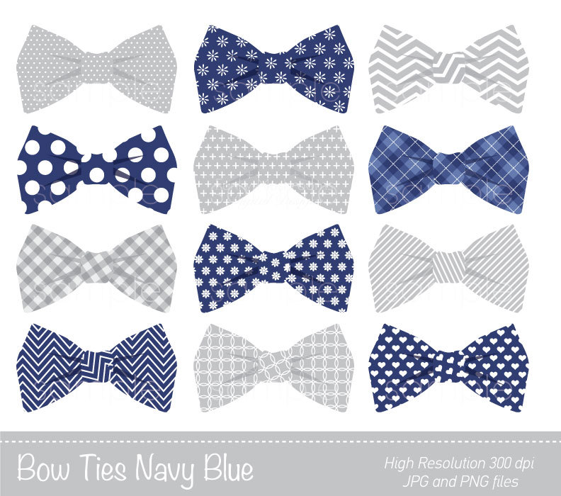 Bow Ties Clipart, Bowtie Clip Art, Navy -Bow Ties Clipart, Bowtie Clip art, Navy Blue, Grey, Personal u0026amp; Commercial Use, only FOR PERSONAL USE-9
