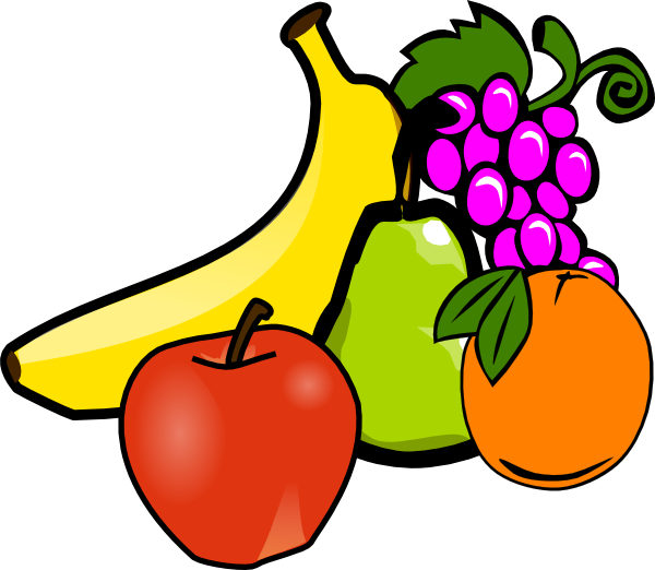 Bowl Of Fruits Clipart