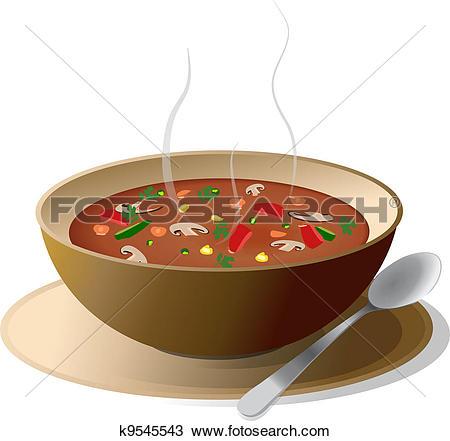 Bowl of hot vegetable soup-Bowl of hot vegetable soup-6