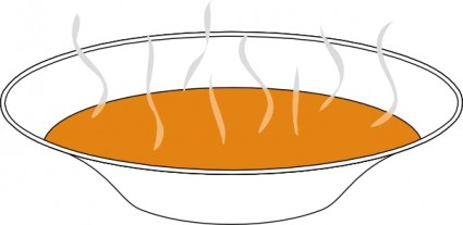 Bowl Of Steaming Soup clip art Vector clip art - Free vector for