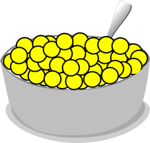 Bowl Of Yellow Cereal Clip Art-Bowl Of Yellow Cereal Clip Art-4