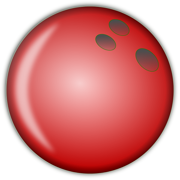 Bowling Ball Large Red - Bowling Ball Clipart