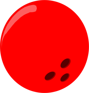 Bowling Ball - Red clip art .