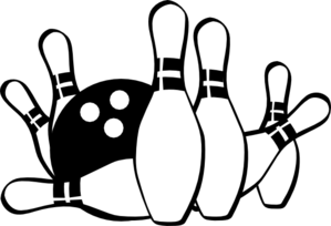 Bowling ball strike clip art .