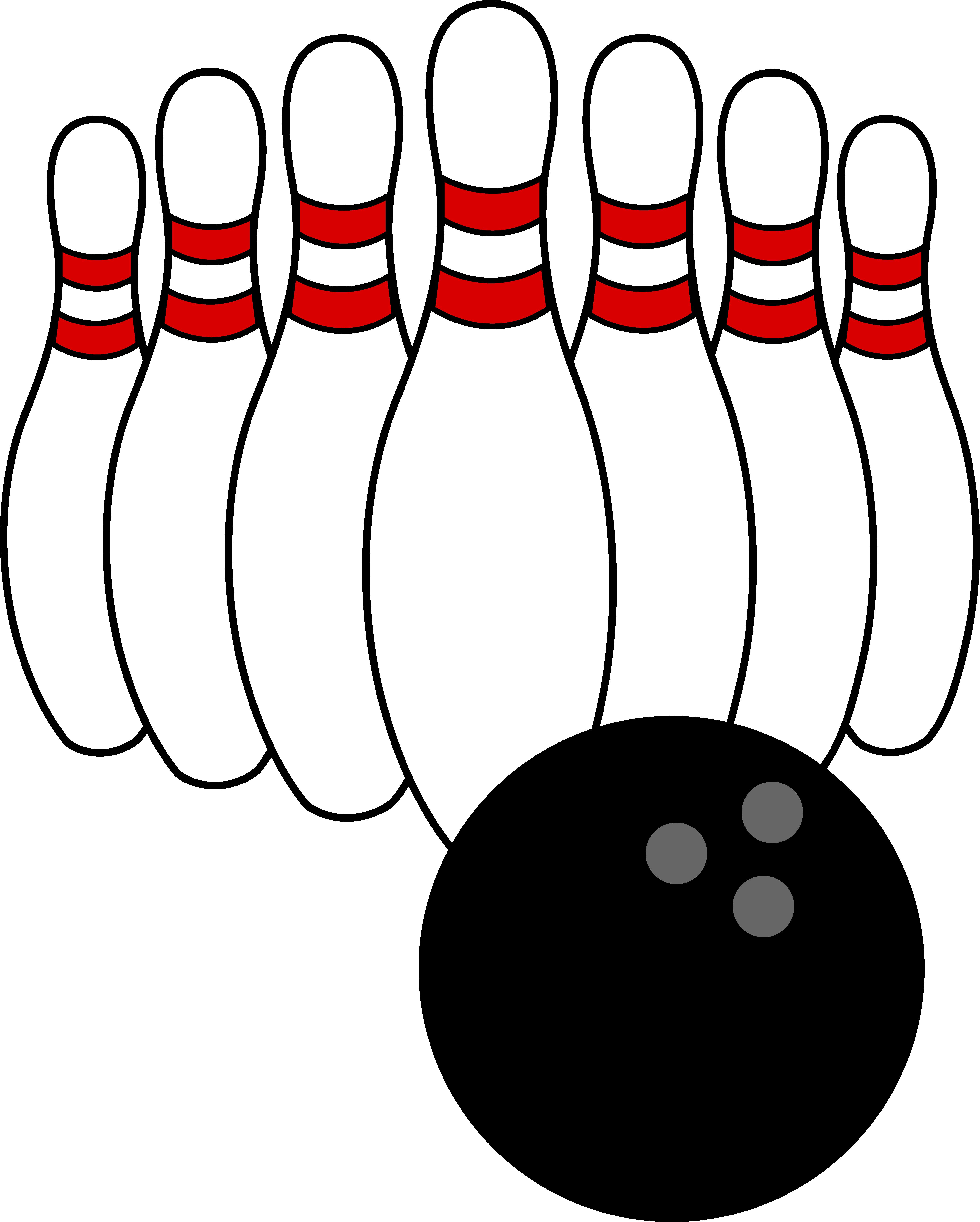 Bowling Clip Art | Bowling Ball and Pins