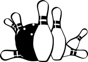Bowling clipart black and-Bowling clipart black and-2