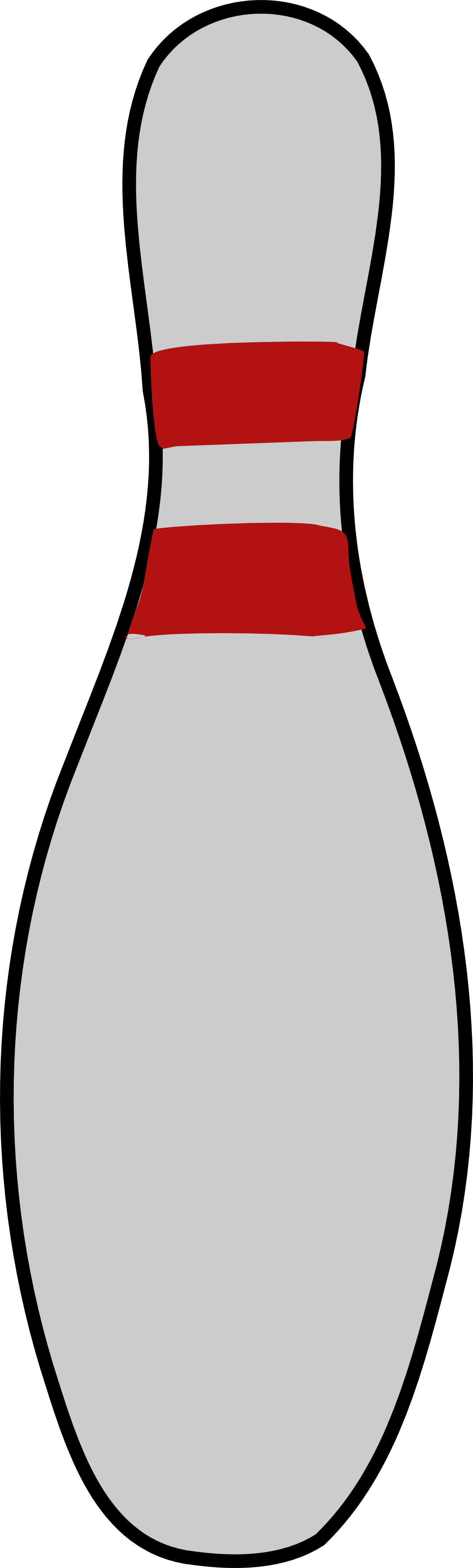 Bowling Pin 3 Coloring Book C - Bowling Pin Clipart