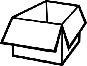 box clipart black and white