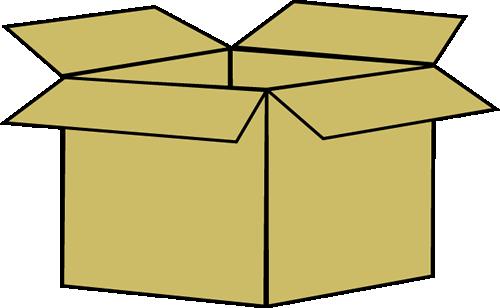 Box Clip Art Image Brown Cardboard Box-Box Clip Art Image Brown Cardboard Box-4