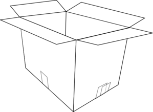 Box Clipart Black And White - .