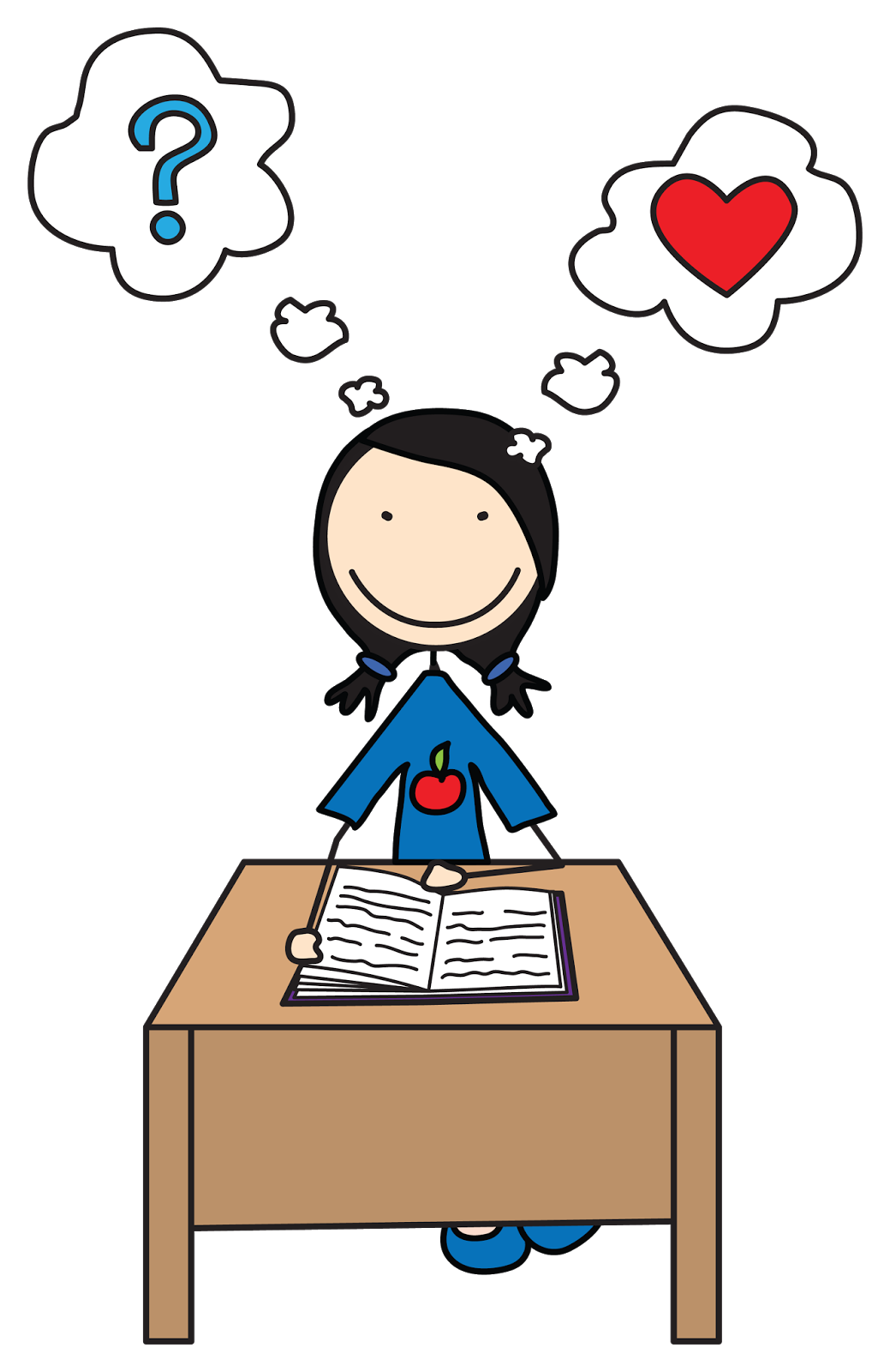 boy and girl student clipart u0026middot; thinking clipart