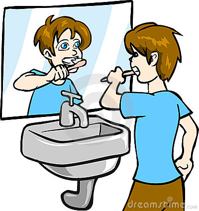 Boy Brushing Teeth Clipart-boy brushing teeth clipart-1