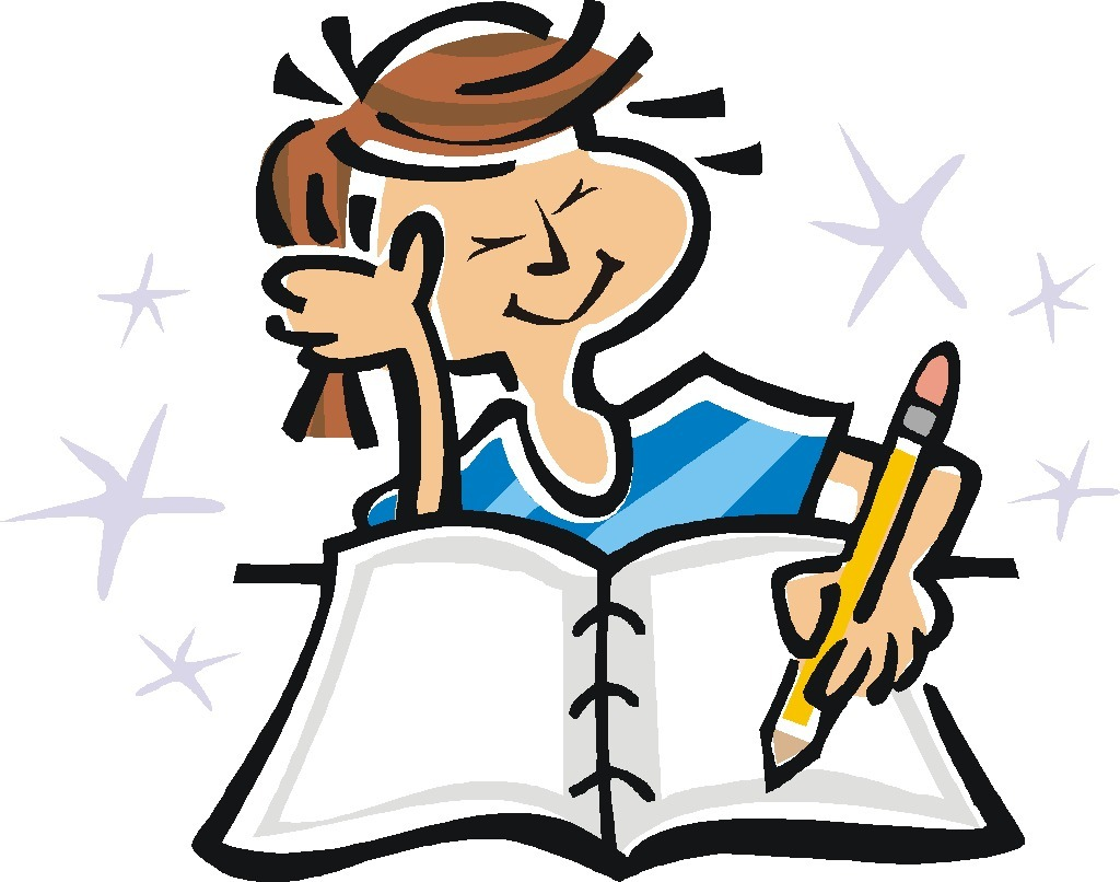 boy writing clipart