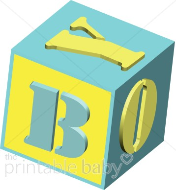 BOY 3d Blue And Yellow Baby Block-BOY 3d blue and yellow baby block-15