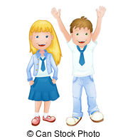 ... Boy And Girl In School Uniform-... Boy and girl in school uniform-1