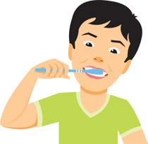 Boy Brushing His Teeth Clipart. Size: 88-Boy brushing his teeth clipart. Size: 88 Kb-2
