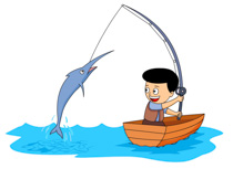 Boy Catching Big Fish With Fishing Rod S-Boy Catching Big Fish With Fishing Rod Size: 93 Kb-1