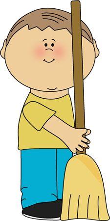 Boy Classroom Sweeper Clip Art ..