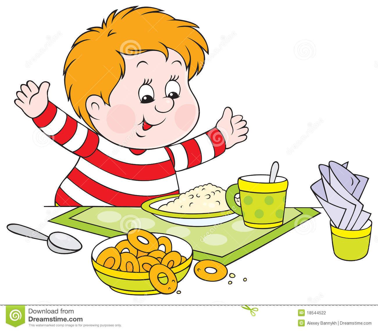 Children Eating Clipart