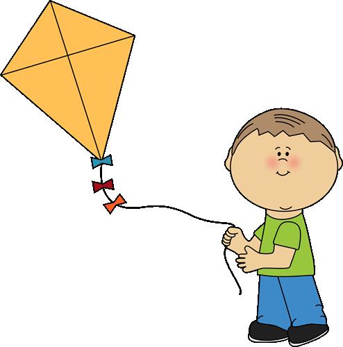 Boy Flying A Kite-Boy Flying a Kite-2