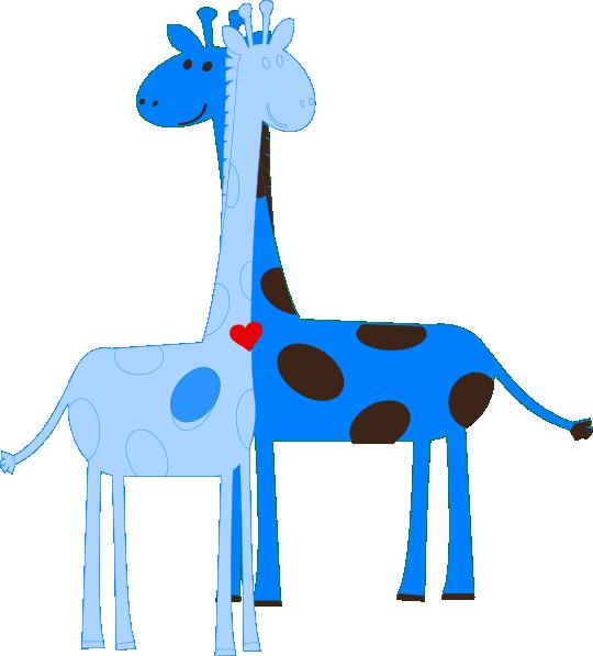 Boy Giraffe Baby Shower Clip Art At Clker Com Vector Clip Art Online