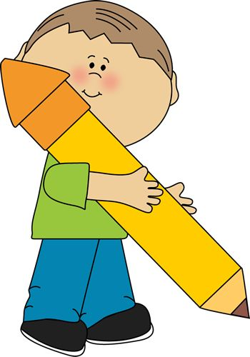 Boy holding a big pencil made by My Cute Graphics | School Kids Clip Art | Pinterest | Boys, Graphics and Schools