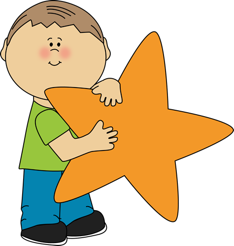 Boy Holding An Orange Star-Boy Holding an Orange Star-1