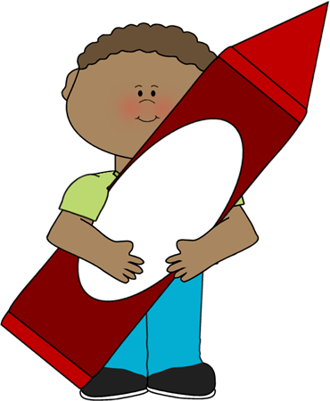 Boy Holding Crayon