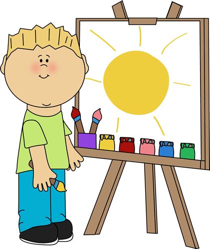 Boy Painting On An Easel Clip Art Boy Pa-Boy Painting On An Easel Clip Art Boy Painting On An Easel Image-5